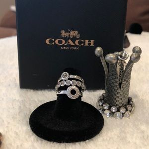 Coach Open Circle Ring Set